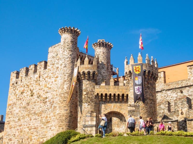 Templar slott - Ponferrada arkivfoto