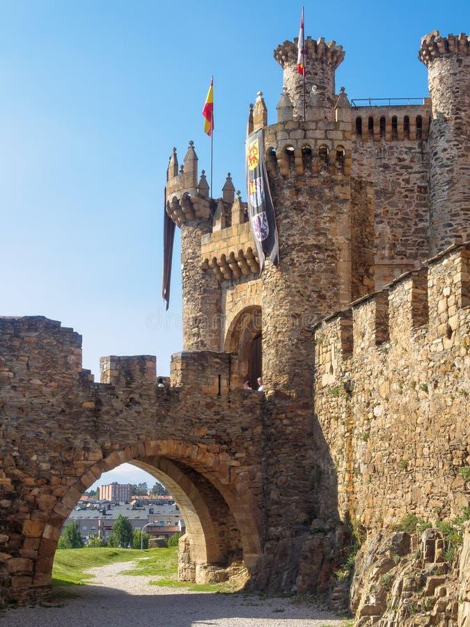 Templar slott - Ponferrada fotografering för bildbyråer