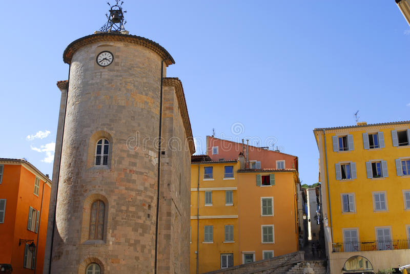 Templar tower in Hyeres,France. Templar tower in city of Hyeres,France royalty free stock images
