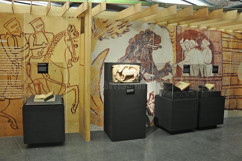 Templar utställning i Spanien arkivbild