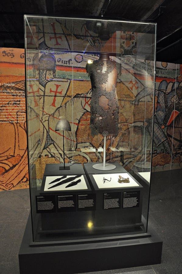 Templar utställning i Spanien royaltyfri foto