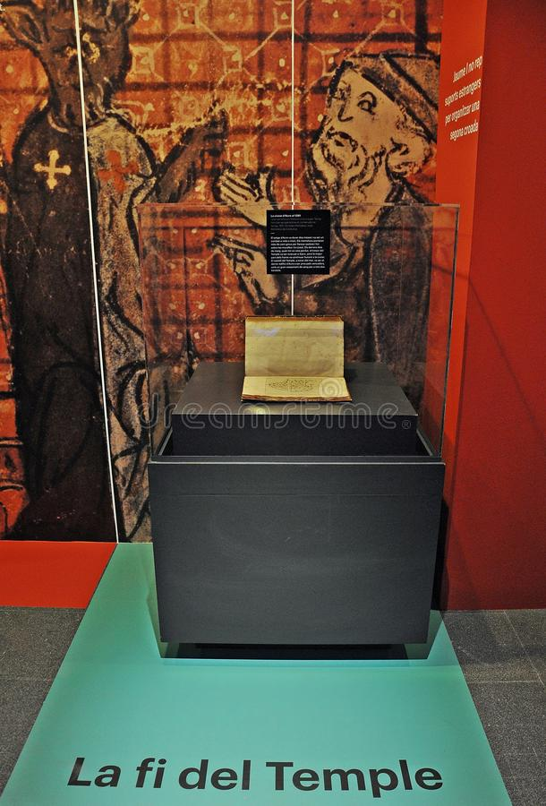 Templar utställning i Spanien fotografering för bildbyråer