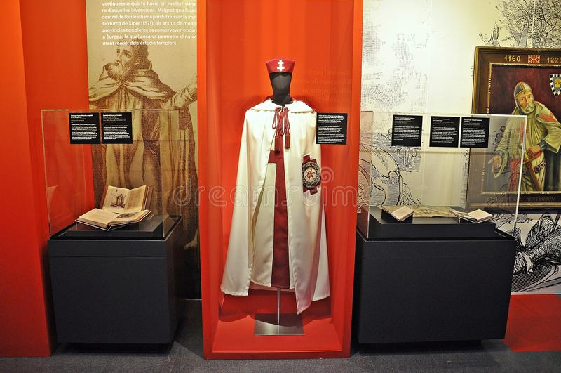 Templar utställning i Spanien arkivbilder