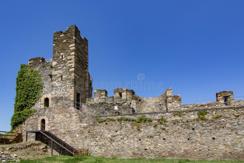 Templarium slott, Ponferrada, Santiago Road, Spanien fotografering för bildbyråer