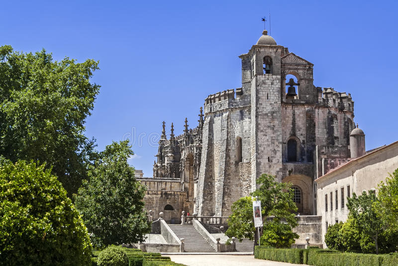 Templariusza klasztor Chrystus w Tomar fotografia royalty free