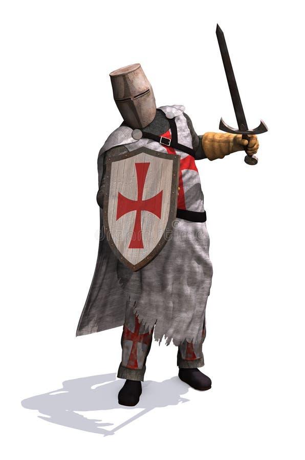 Templariusza rycerz royalty ilustracja