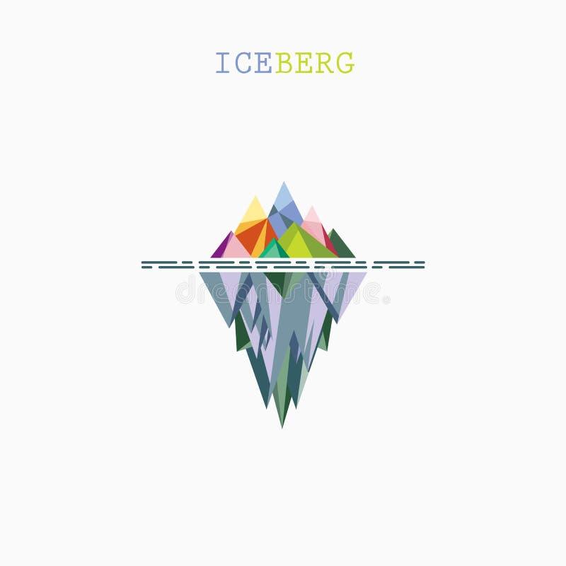 Templat infographic do projeto abstrato do logotipo do vetor do iceberg do triângulo ilustração stock