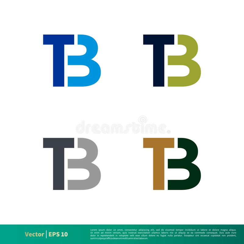 Set T B Letter Initial Icon Vector Logo Template Illustration Design. Vector EPS 10. stock illustration