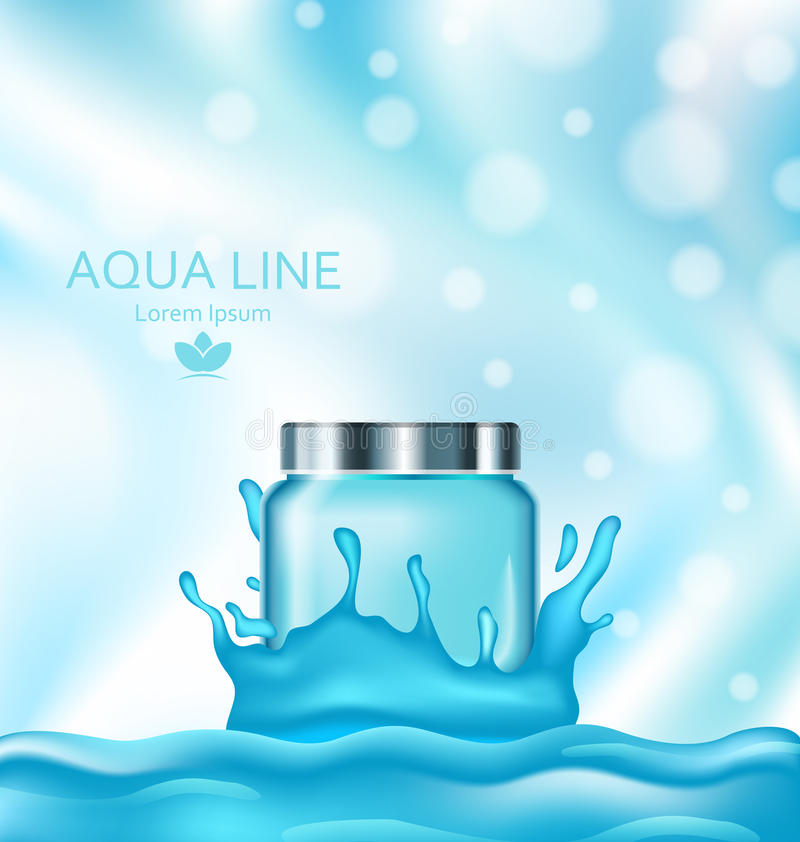 Template for Advertising Poster for Cosmetic Treatment Facial Skin Care stock illustration