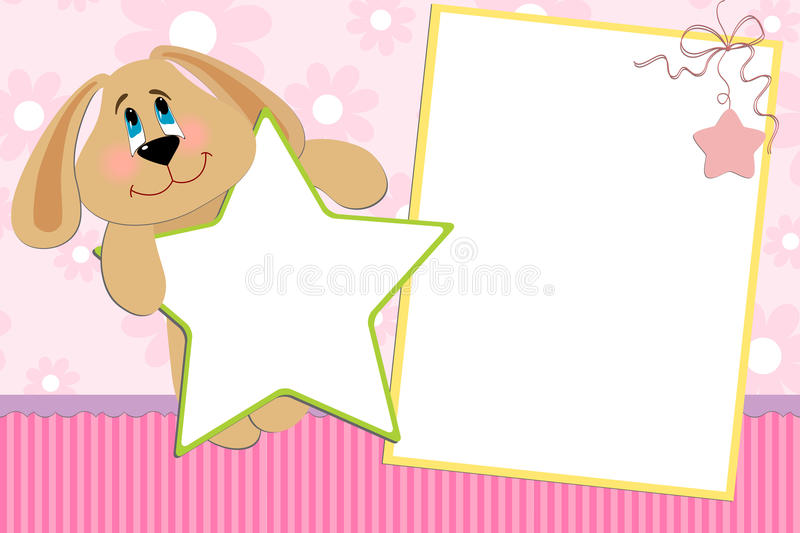Download Template For Baby's Photo Album Stock Vector - Image: 13813697