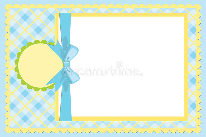 Template for baby's photo album. Or postcard vector illustration