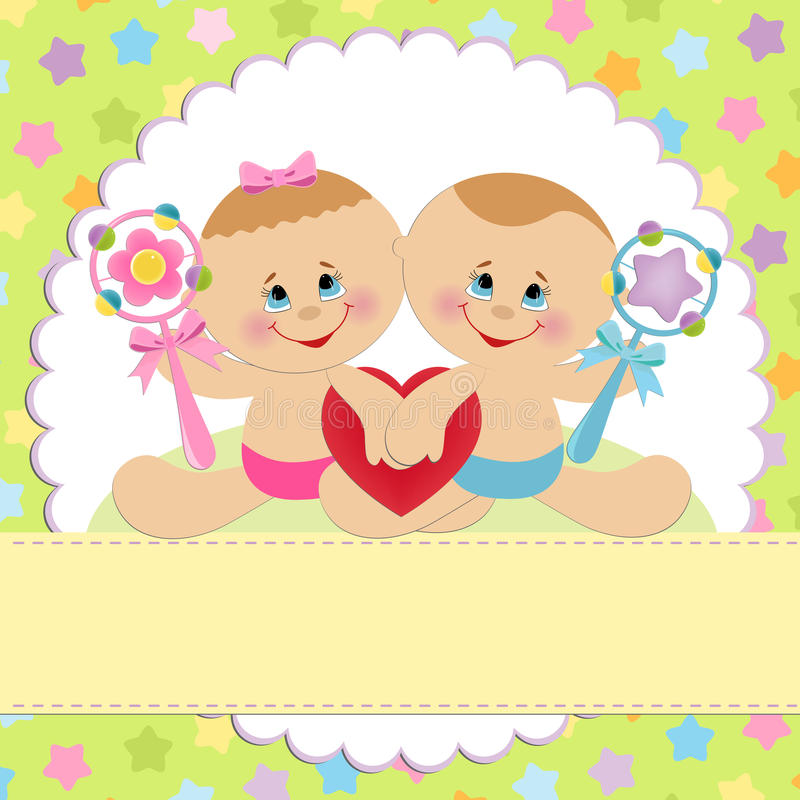 Template for baby's postcard vector illustration