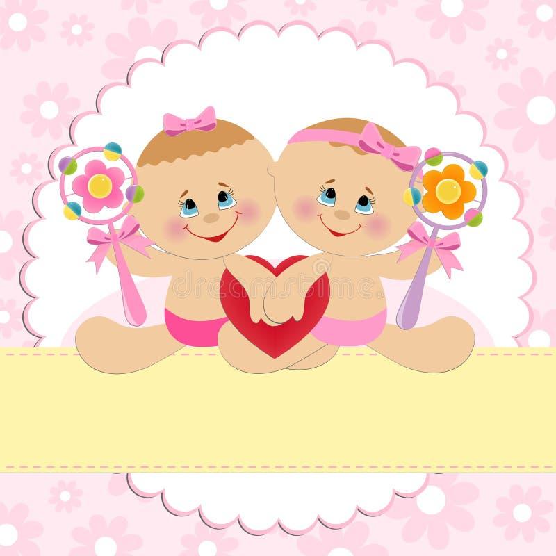 Новогодние открытки, поздравительные открытки с годиком двойняшек