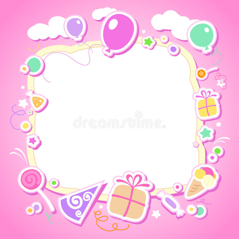 Template for babys photo album. Template for babys photo album or postcard vector illustration