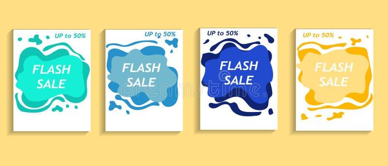 Template a4 fluid banner vector stock photos