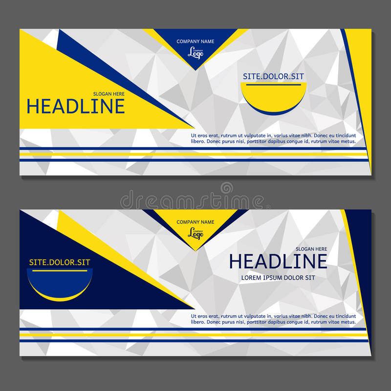 Template Banner. Abstract background for design. stock illustration