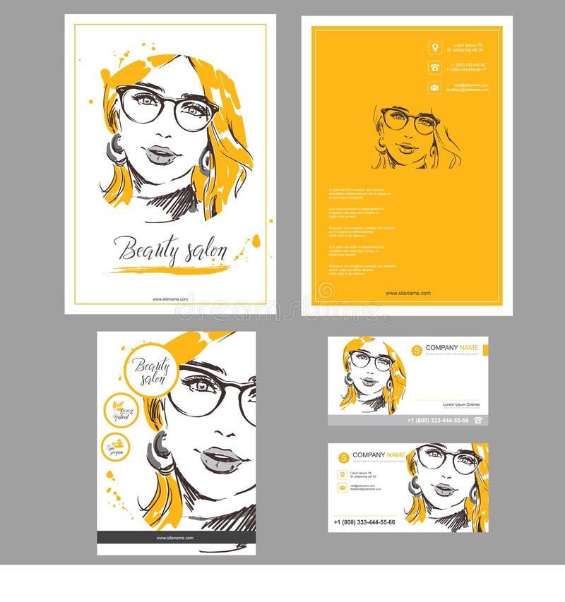 TEMPLATE_Big_set_booklet_and_cards_объект_ бесплатная иллюстрация