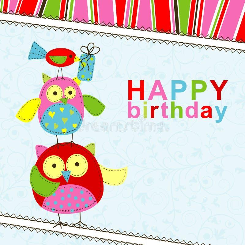 Template birthday greeting card vector illustration