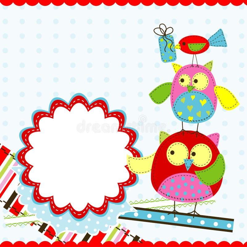 Template birthday greeting card. Illustration stock illustration