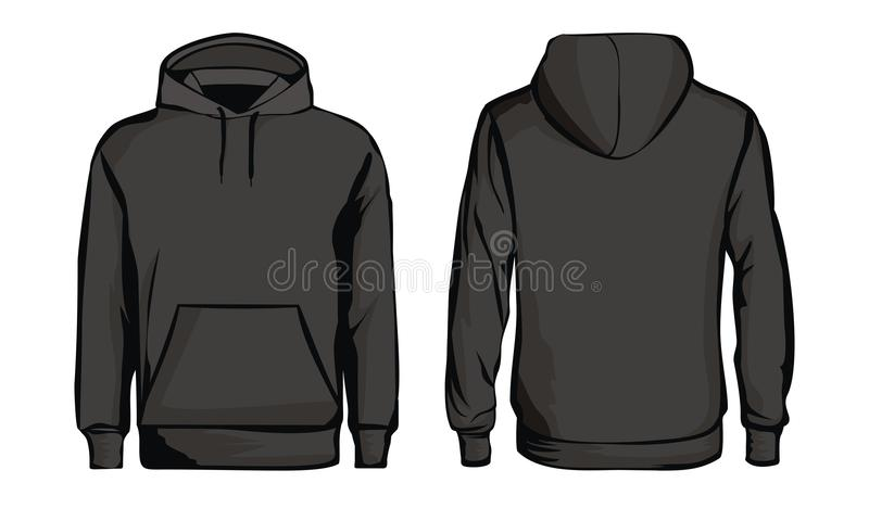 Template black sweatshirt royalty free illustration
