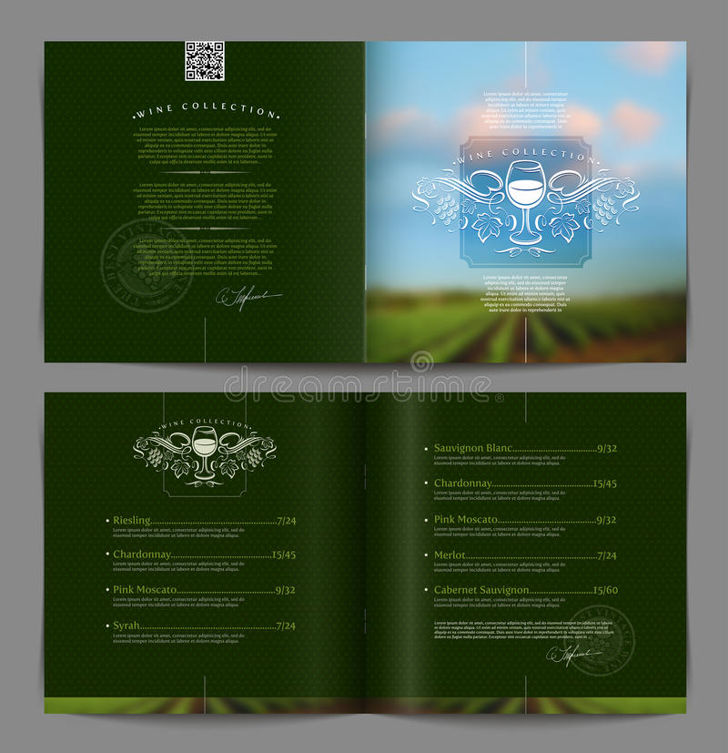 Template booklet page design stock illustration