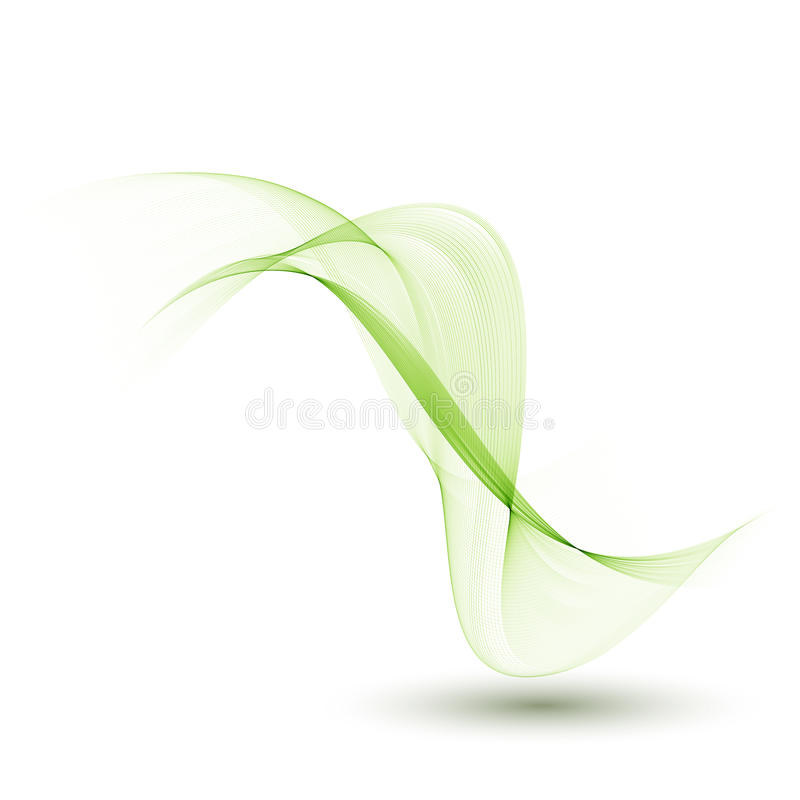 A Template Of The Brochure Designansparent Green Waves Of Smoke