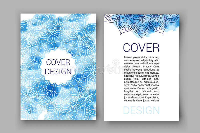 Template Brochure Pages Ornament Vector Illustration Traditional
