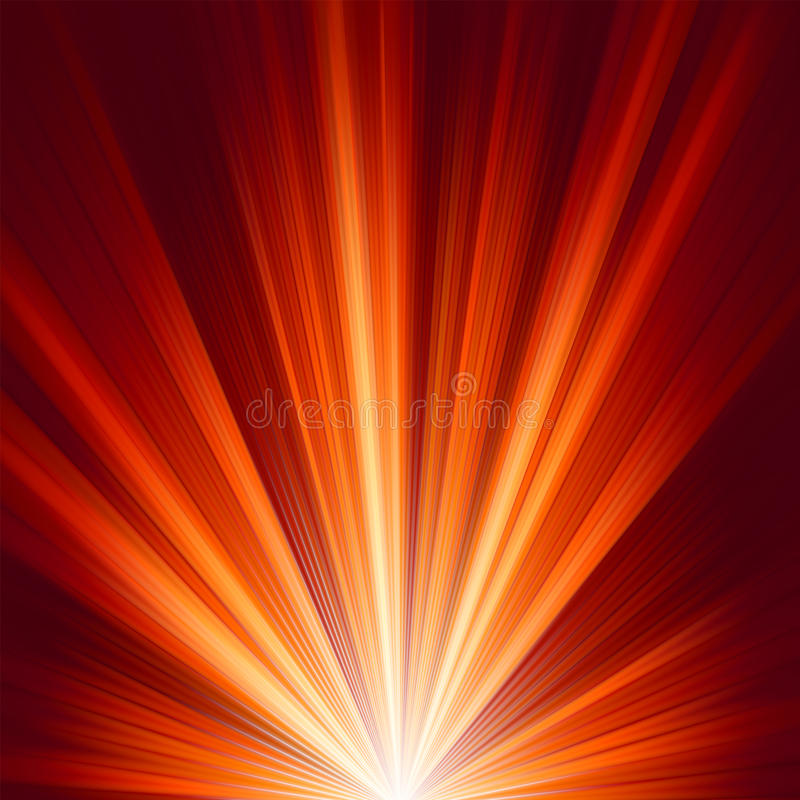 Template With Burst Warm Color Light. EPS 8 Royalty Free Stock Photo