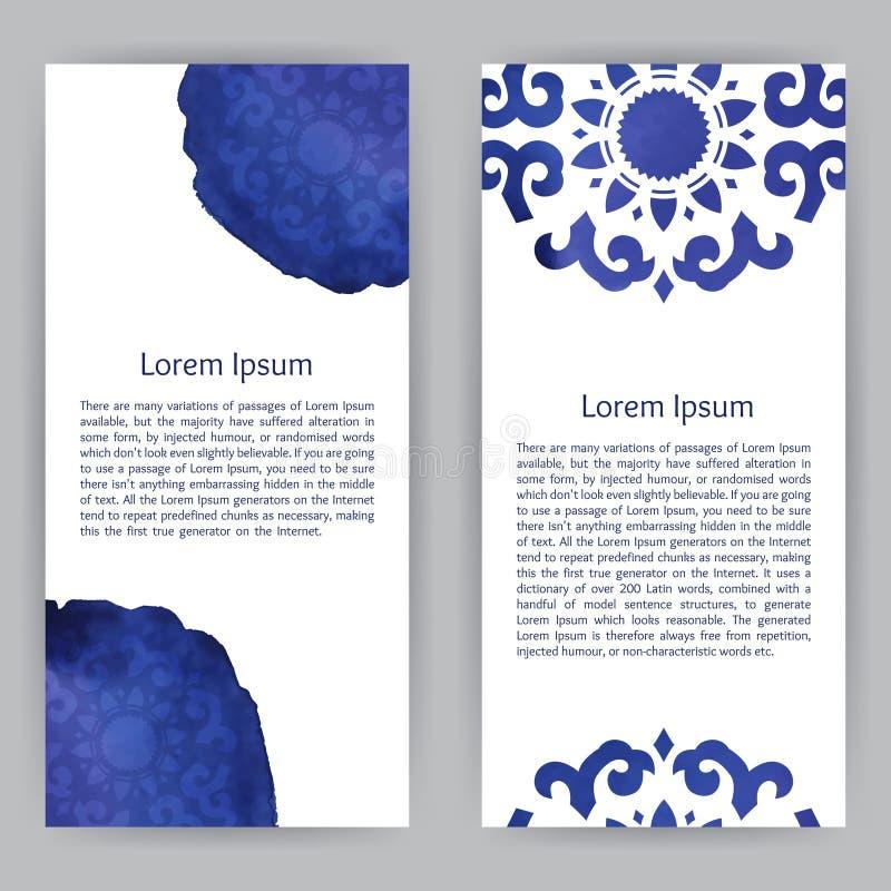 Template With Buryat Ornament vector illustration
