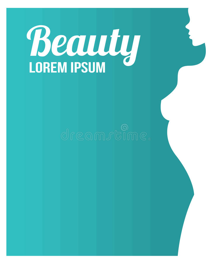 Template For A Business Card Or Banner Beauty Salon Stock Vector