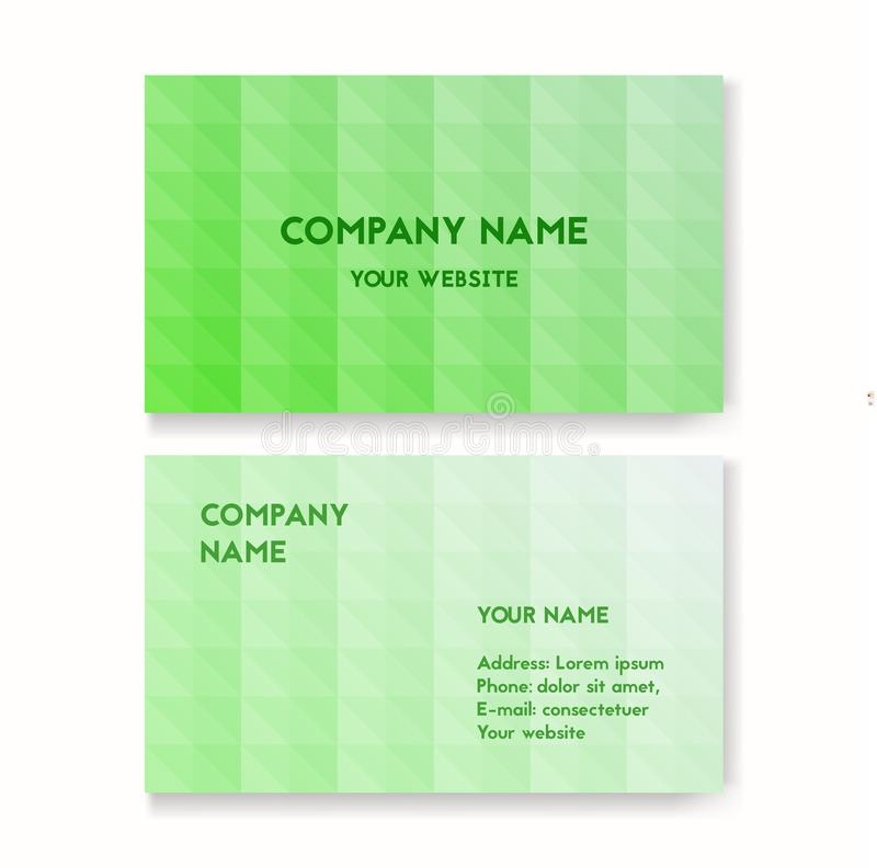 Template business card stock vector illustration of background template business card for environmental protection corporate layout for print vector illustration green color the concept of ecology design reheart Image collections