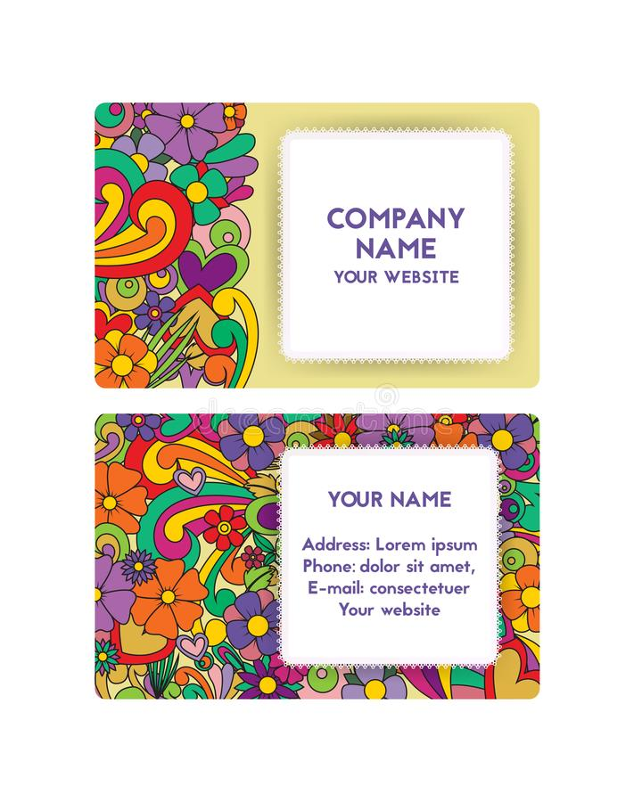 Template business card for organization of festivals company stock download template business card for organization of festivals company stock vector illustration of branding colourmoves