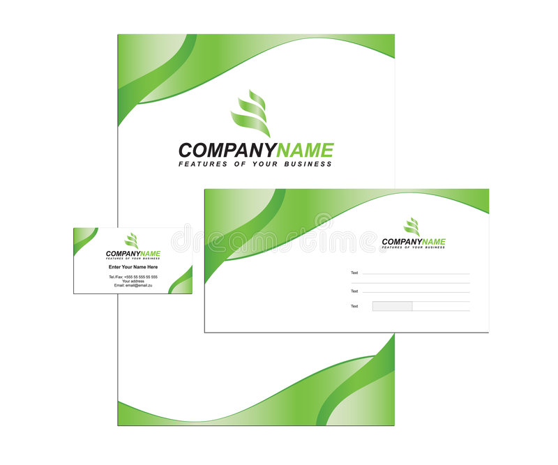 Download Template Business Identity With Logo Royalty Free Stock Photo - Image: 8706585
