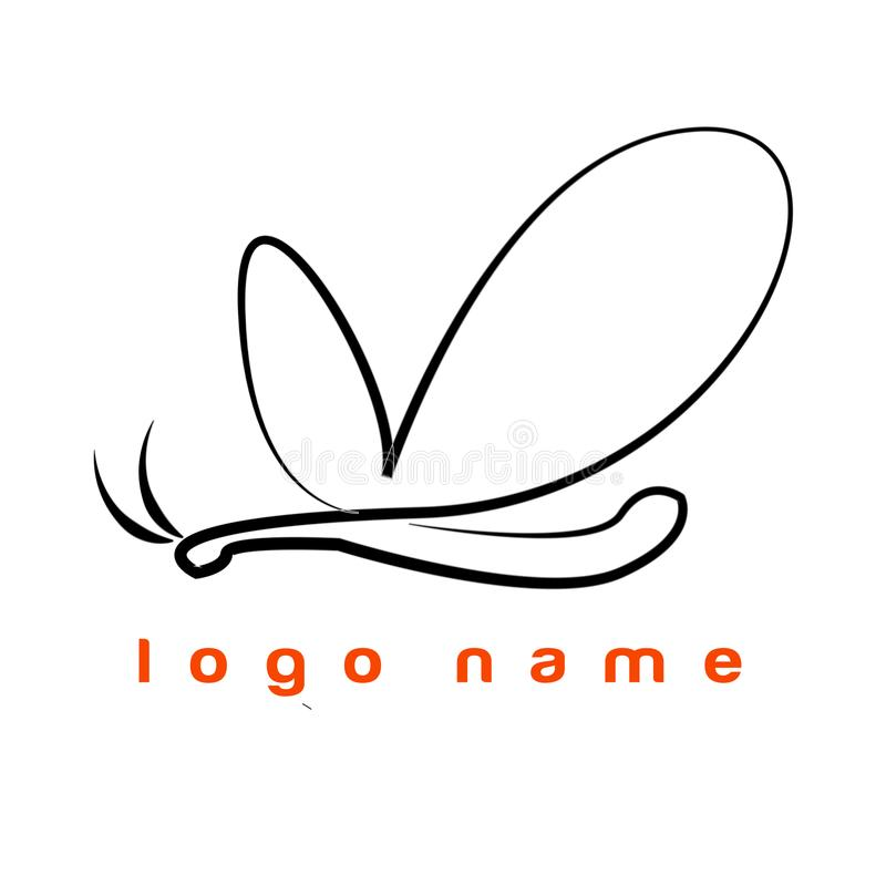 Logo Buterfly on line - Template Logo for company or store optcal. Template Buterfly. Good for logo your business or your company. Line Style black and white stock illustration