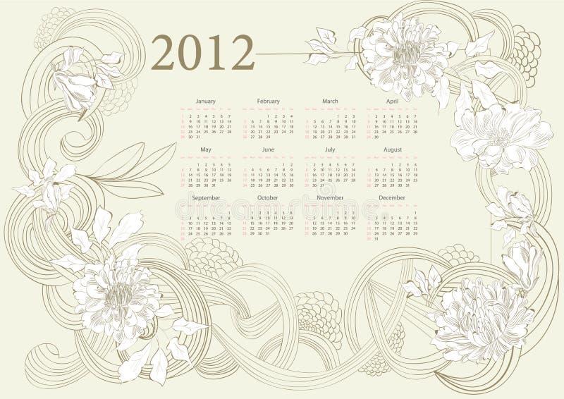 Template For Calendar 2012 Stock Photography