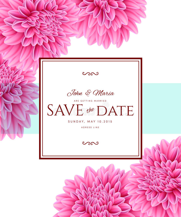 Template card Save the Date royalty free illustration