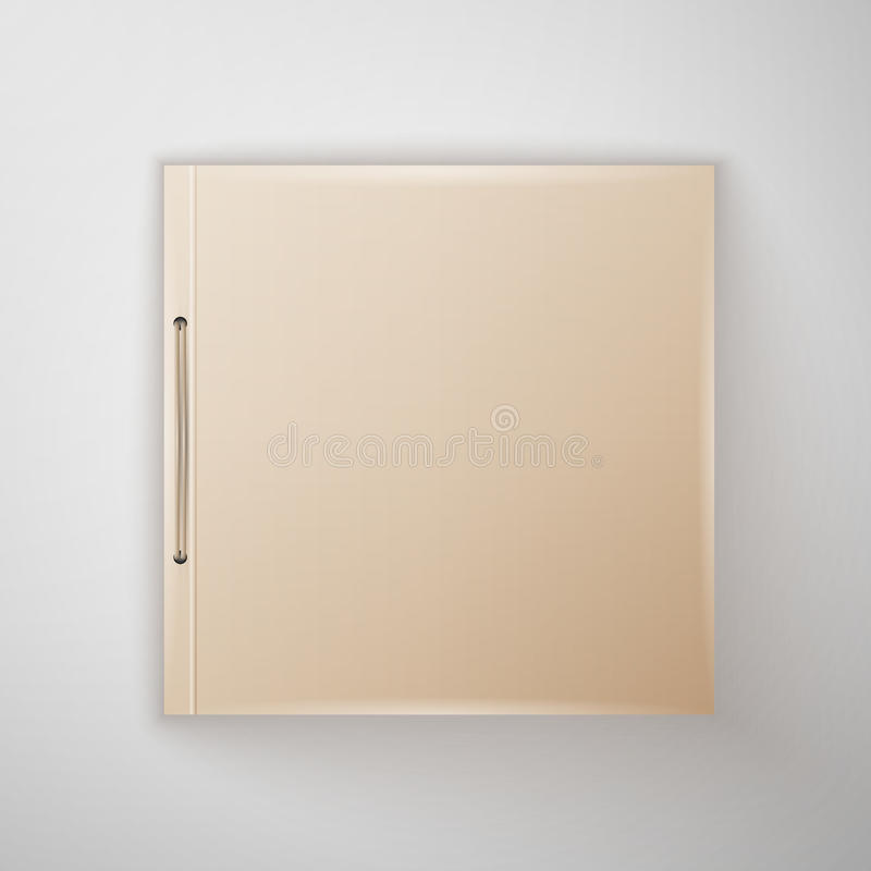 Template Catalog, folder. Blank catalog, folder, magazine, book template with soft shadows. Ready for your design vector illustration