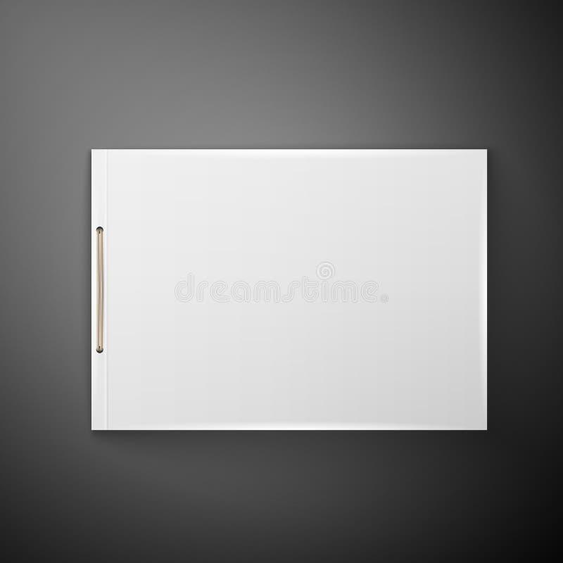 Template Catalog, folder. Blank catalog, folder, magazine, book template with soft shadows. Ready for your design stock illustration