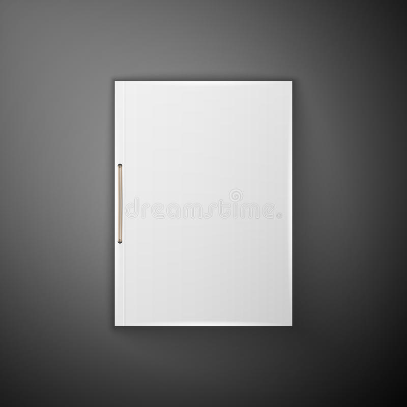 Template Catalog, folder. Blank catalog, folder, magazine, book template with soft shadows. Ready for your design royalty free illustration