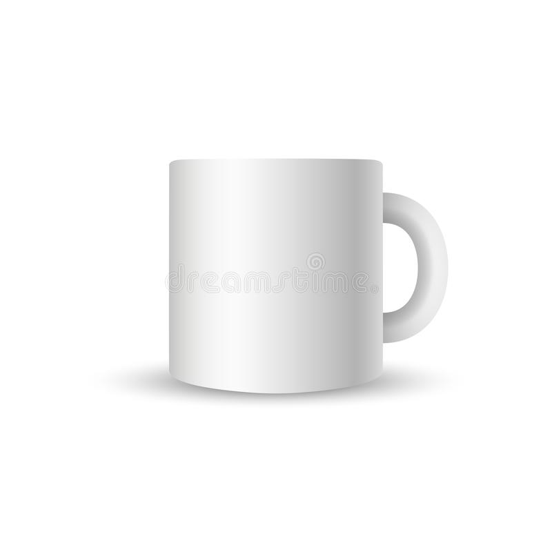 2eec7afe463 Blank Coffee Cup On White Background With Shadow And Reflection ...