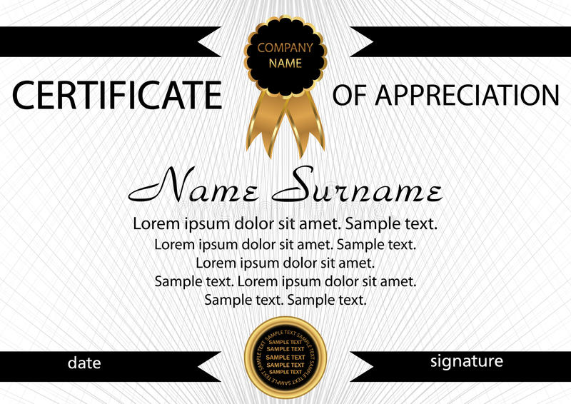 Template Certificate Of Appreciation Elegant Background Winnin