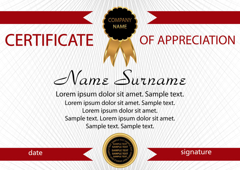 Template certificate of appreciation elegant background winnin download template certificate of appreciation elegant background winnin stock vector illustration of education yelopaper Choice Image