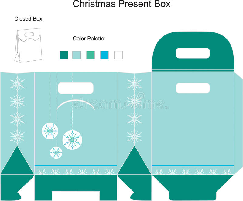 Template for Christmas Box royalty free illustration