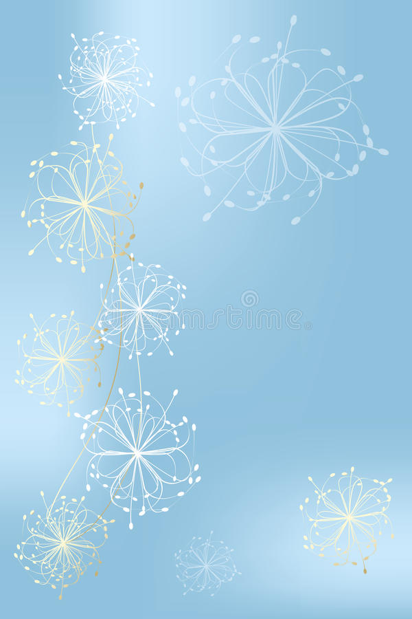 Template for a Christmas card - Stock Illustration. Template for a Christmas card with shimmering design elements, stars and snowflakes in light-blue to white royalty free illustration