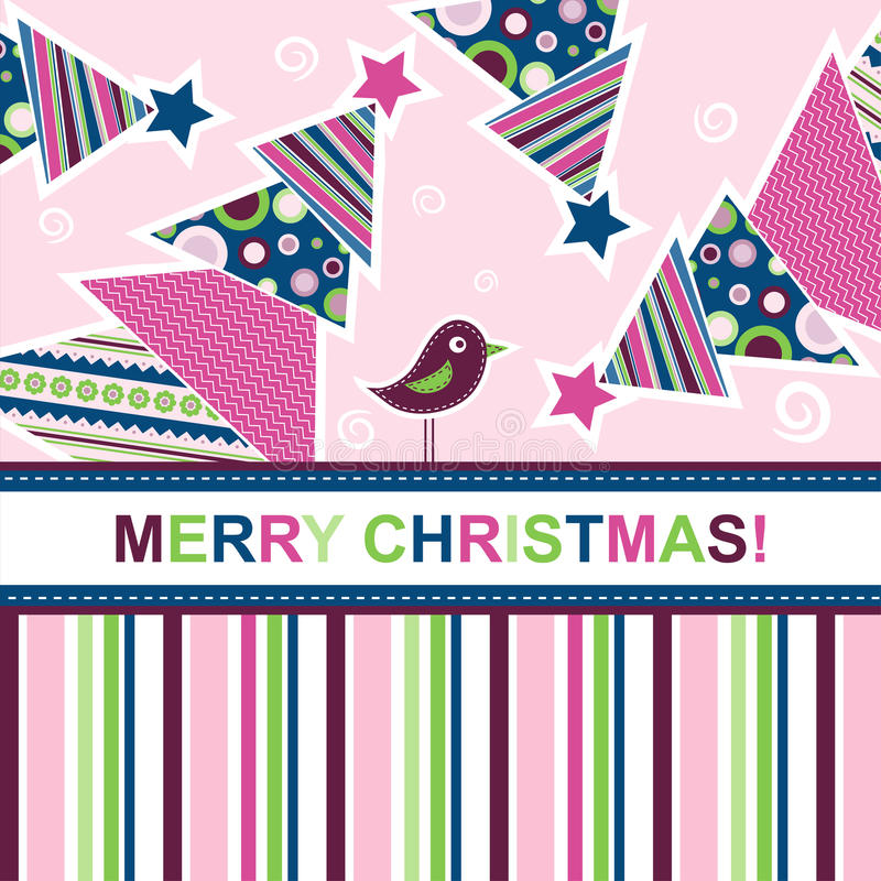 Template christmas greeting card royalty free illustration