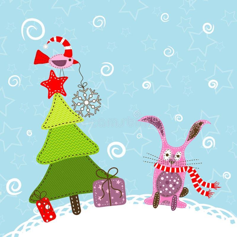 Template christmas greeting card vector illustration