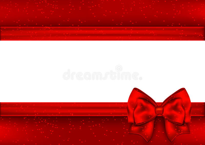 Template for Christmas greeting card. Border red tape royalty free illustration