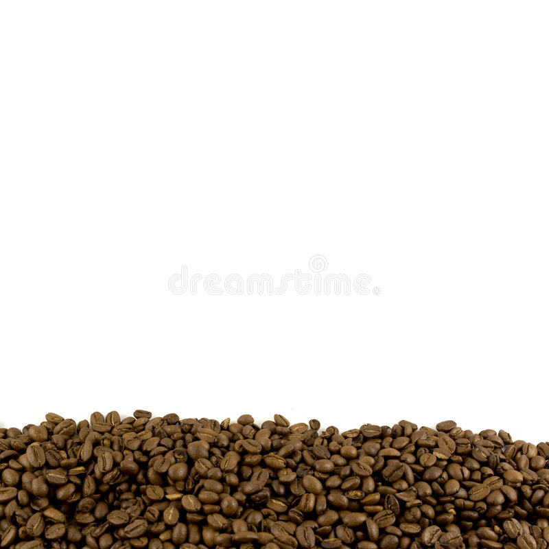 Template with coffee beans footer royalty free stock photography