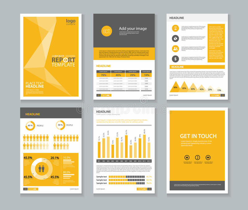 Template Company Profile Annual Report  Brochure  FlyerLayout