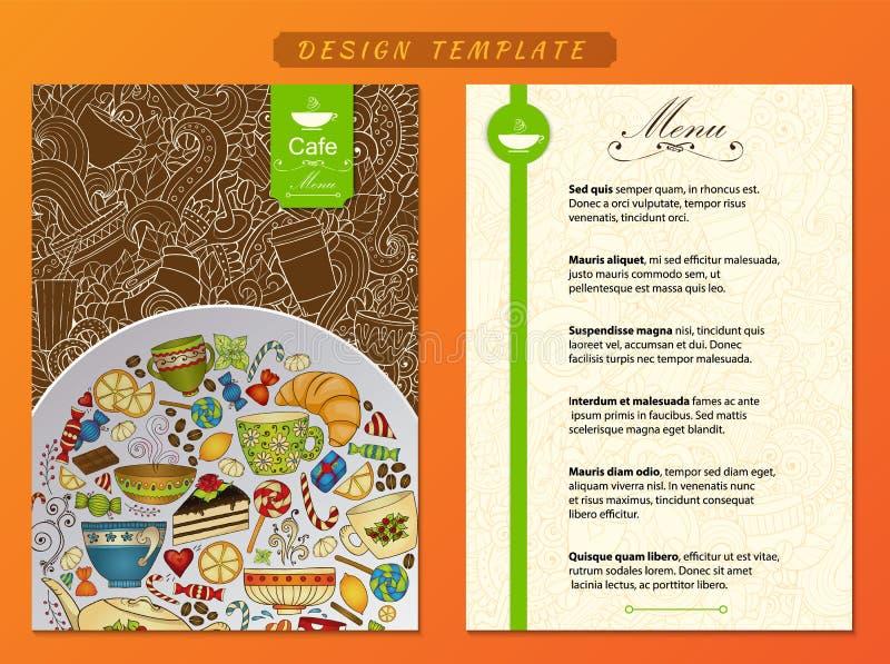 Template corporativo para artes -finais do negócio Café, estilo firme do restaurante ilustração royalty free